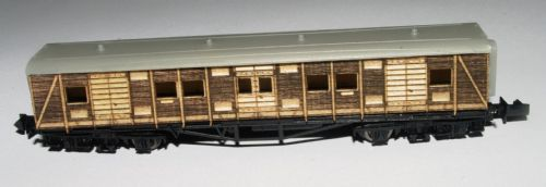 ARCHN0019 Conversion Kit for Dapol Siphon G Maunsell Van B S2464S as converted for Sir Winston Churchill's Funeral